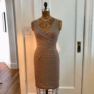 Kay Unger Polka-Dot Dress